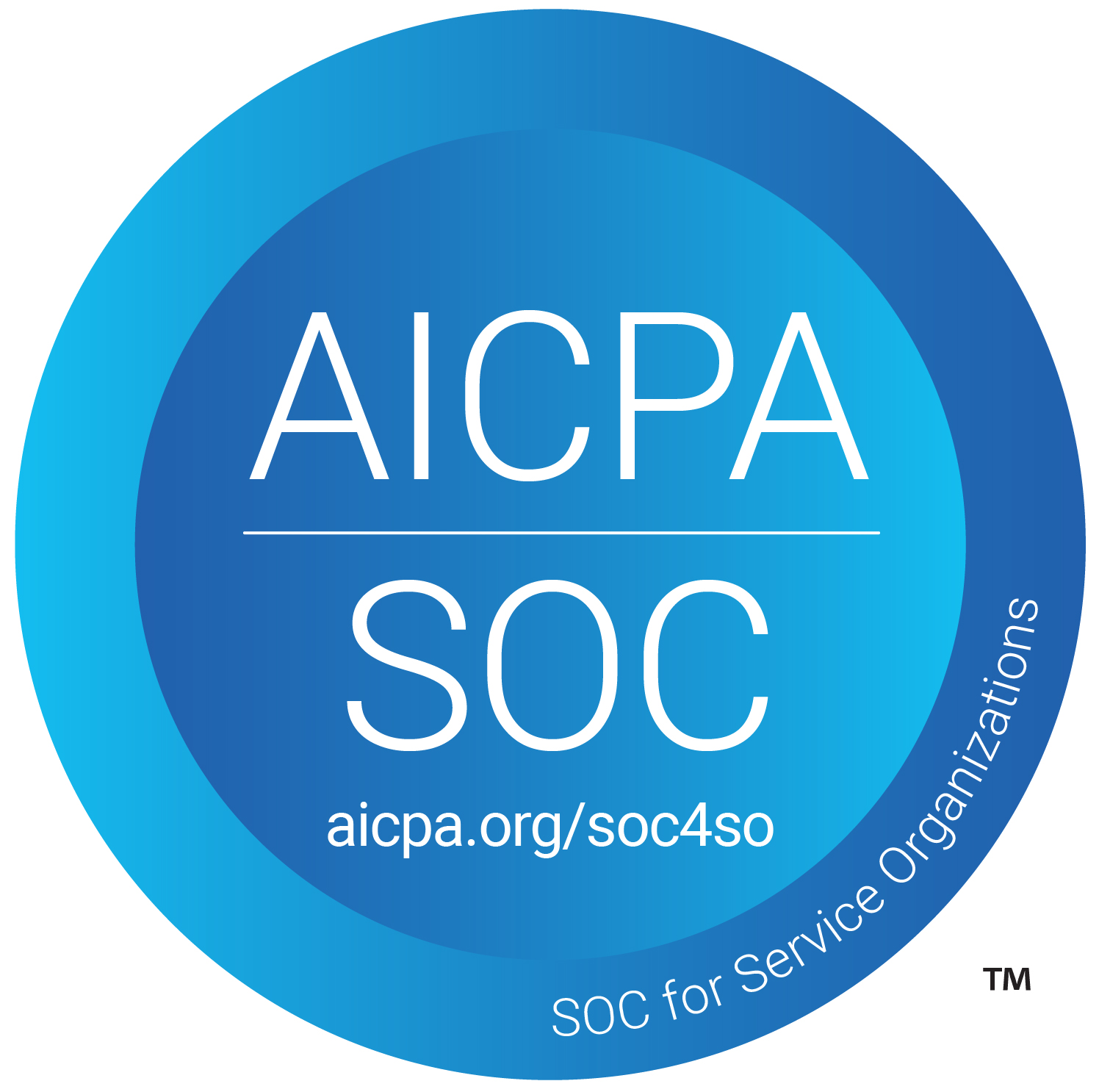 AICPA SOC logo, aicpa.org/soc4so, SOC for Service Organizations